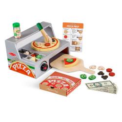 Melissa & Doug Top & Bake Pizza Counter - Wooden Play Food