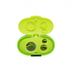 Keyroad Tris Jumbo 3-hole plastic sharpener , with tank, green