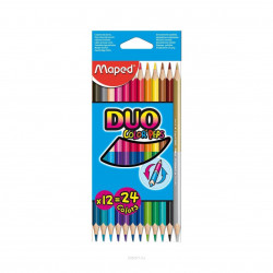 Maped Color'Peps Colored Pencil Set 12-Pencil Set - Duo-Tip