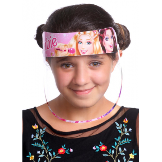Face Shield Mask for Kids, 4-14 age, Barbie Design