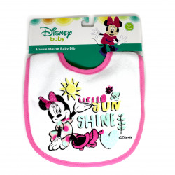 Mickey & Minnie Cotton Baby Bib, Pink