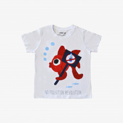 The Orenda Tribe The Fish Kids Coloring T-shirt, 2 years