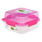 Sistema To Go Rectangle Lunch Stack Box, 1.24L - Pink