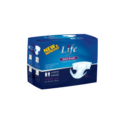 Adults Brief for Men and Women from Life , Large , 12 pcs