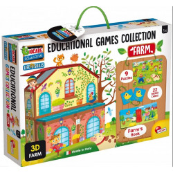 Lisciani Carotina Educational Games Collection - Farm