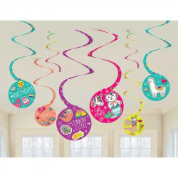 Amscan - Selfie Celebration Spiral Party Decorations One Size Multi Color