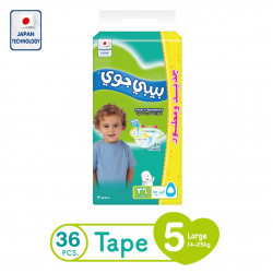 Baby Joy Junior Diapers Large Size 5, 14-25 kg, 36 Piece