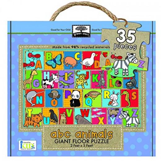 Innovative Kids Green Start Giant Floor ABC Animals Puzzle (35 Piece)