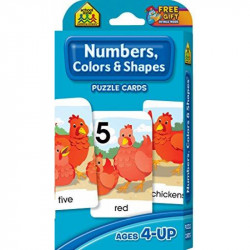 School Zone - Numbers, Colors & Shapes Puzzle Cards