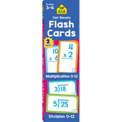 School Zone Get Ready Flash Cards Multiplication & Division 2-pack, 112 cards