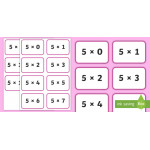Early Learning Times Tables Flashcards: Homework Helpers