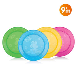 Nuby Lunch Plate Set - 4 pieces