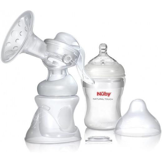 مجموعة شفاطات الحليب اليدوية سوفت فليكس 2 في 1 من نوبي