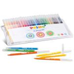 24 ألوان متنوعة من ألياف فلوماستر في محفظة بلاستيكية من بريمو