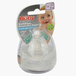 Nuby Wide Neck Anti-Colic Teat - Set of 2