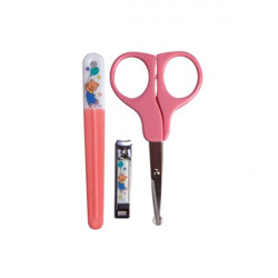 Nuby Evolutive Nail Care Set, 3 pieces, Pink