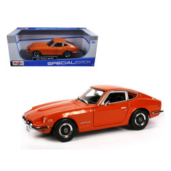 Maisto 1970 Datsun 240Z Nissan Fairlady Z Orange 1/18 Scale Diecast Car Model, Assorted