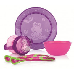 Nuby Fun Feeding™ Set, Purple & Green