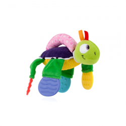 Nuby Floppers Teether Toy, turtle