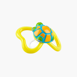 Nuby 2 Pack Pacifiers 3D Bug, Yellow