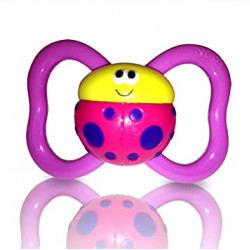 Nuby  Pacifiers 3D Bug +18 m, Pink
