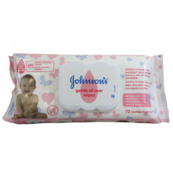 Johnson's Baby, Wipes, Gentle All Over, Pack of 72 wipes