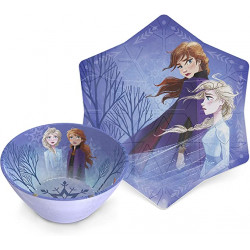 Zak Designs Frozen 2 6in Melamine Embossed Bowl