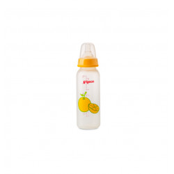 Pigeon Decorated Bottle - (Slim Neck) 120 ml Fruits 1PC - Yellow