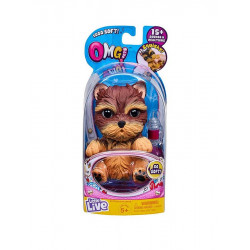 Little Live OMG Pets Soft Squishy Puppy Dog that Comes to Life, Cries and Eats, Yorkie