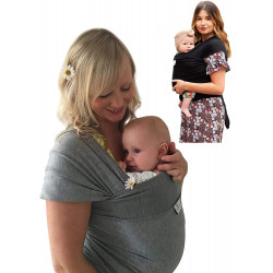 Chicco Baby Wrap Carrier 'sweet Hug' Star Grey