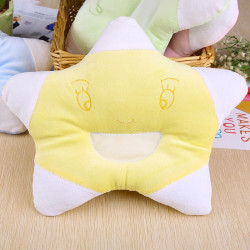 Baby Star Shape Pillow - Anti Roll Cushion - Bedding Cushion - Yellow