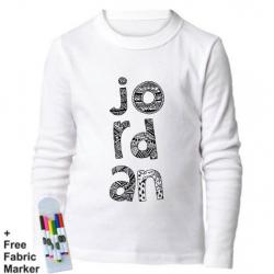 Mlabbas Jordan Kids Coloring Long Sleeve Shirt 3-4 years