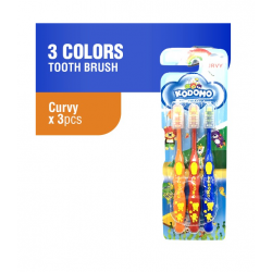 Komodo Curvy Toothbrush Kids 3Pcs