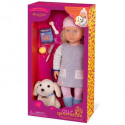 Our Generation Regular Doll Megan with Pet Dog