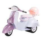 Our Generation Ride in Style Scooter Purple/Blue