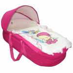سرير الأطفال المتنقل اللون الزهري من فارلن