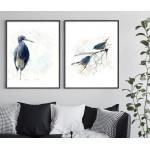 ExtraOrdinary Decorative Wood Framed Wall Art Prints, Blue Bird, A3