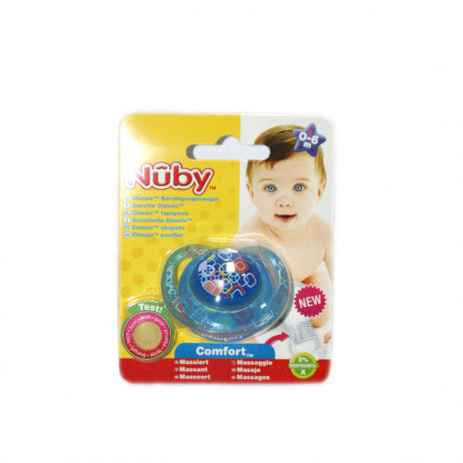 NUBY Classic Orthodontic Soother 0-6m - Navy