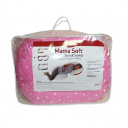 Pragnancy Body Pillow Pink  with Stars - C Shape with Zipper