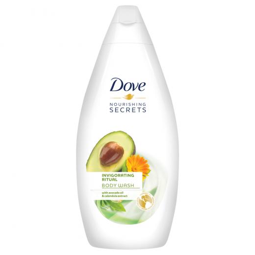 Dove Nourishing Secrets Invigorating Ritual Body Wash, With Avocado Oil and Calendula Extract, 500 ML