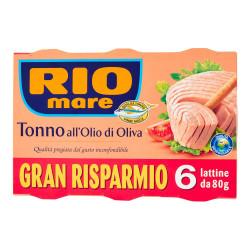 Rio Mare Tuna in Olive Oil Family Pack 6x80g