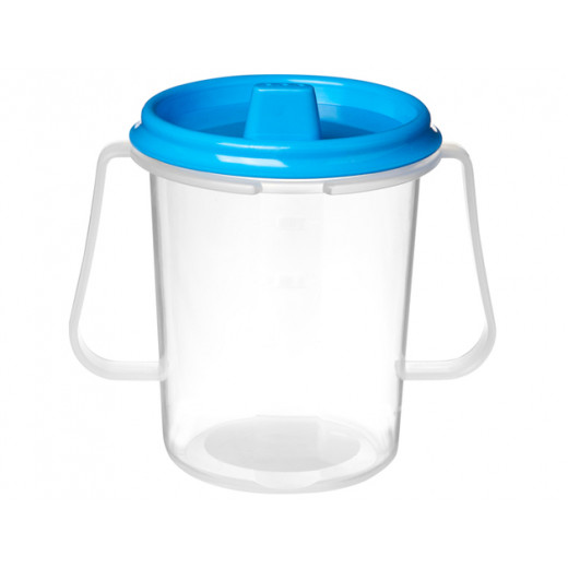 Sistema Drink cup with lid and spout 250 ml Blue