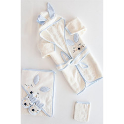 Baby Bath Set, 4 pieces, Blue Fox