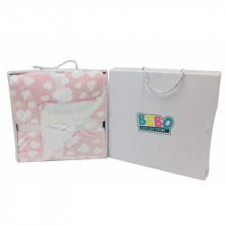 بطانية بيبي - مفرد بتصميم قلوب - 80 × 110 سم - زهري من نوفا