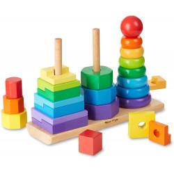 Melissa & Doug Geometric Stacker Toddler Toy