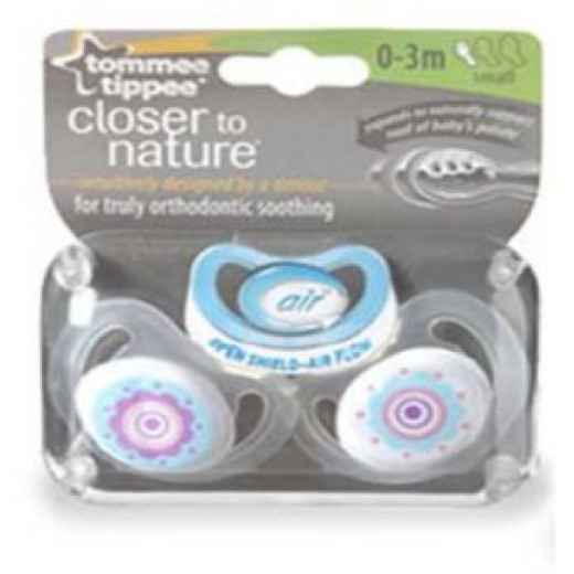 Tommee Tippee Air Style Soother 0-3 months, (2 pieces)
