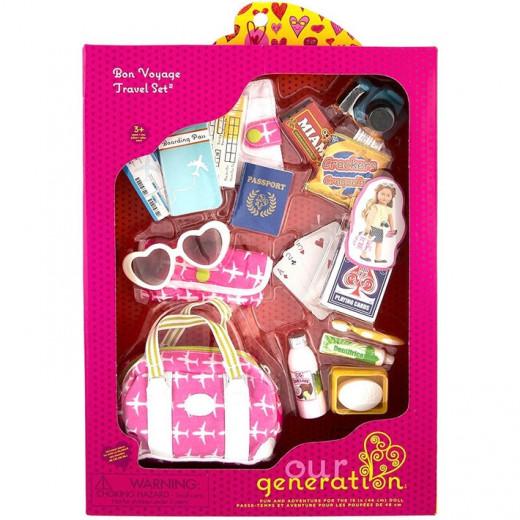 Our Generation - Bon Voyage Bag - Travel Accessory Set