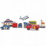 Melissa & Doug Vehicles Chunky Puzzle - 9 Pieces