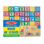 Melissa & Doug - Wooden ABC-123 Blocks Learning Toy