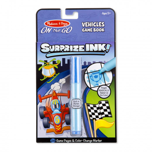 Melissa & Dough Surprize Ink! Vehicles - ON the GO Travel Activity Book
